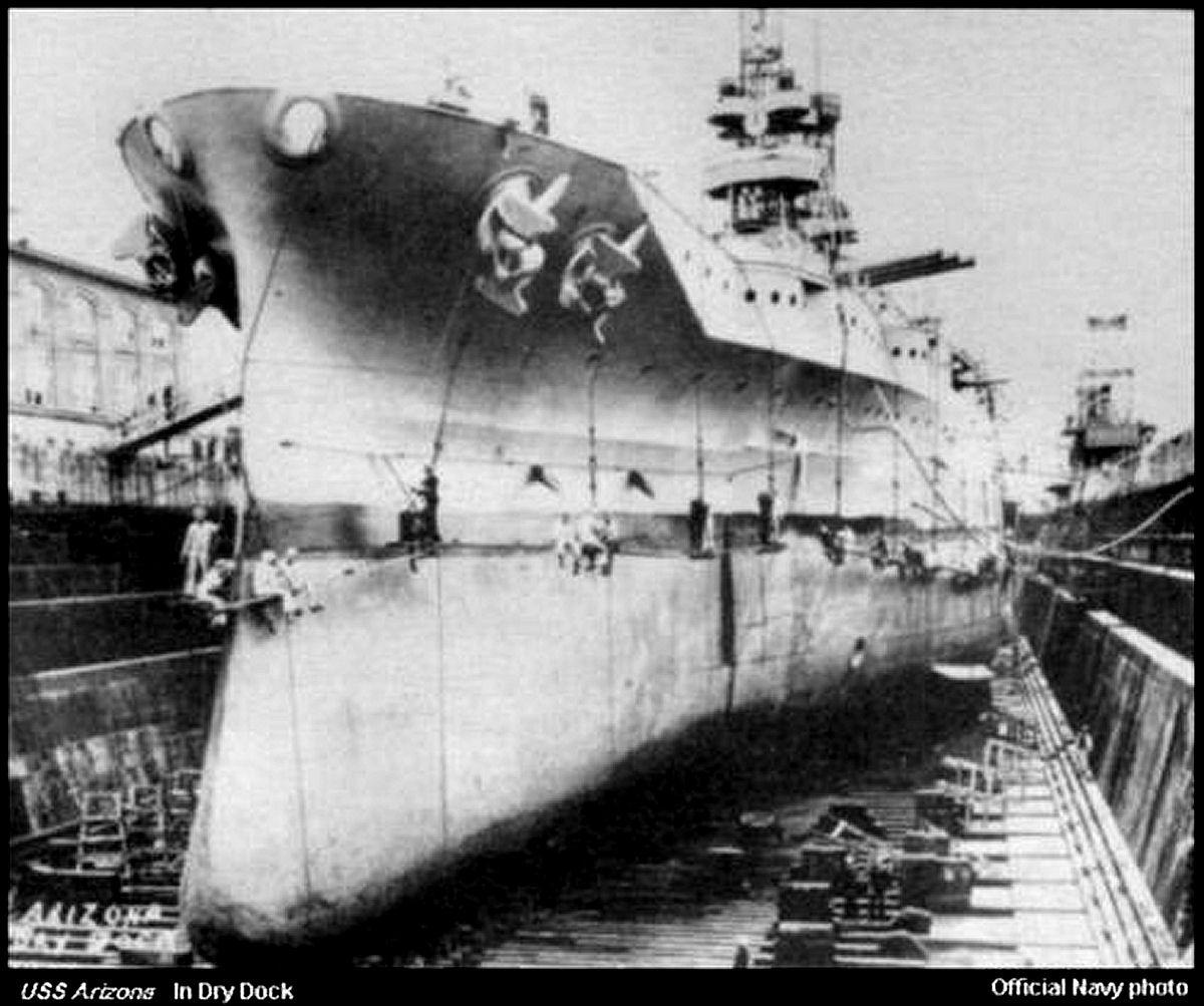 montage du USS ARIZONA AU 1/200 par Raphael - Page 3 DryDock