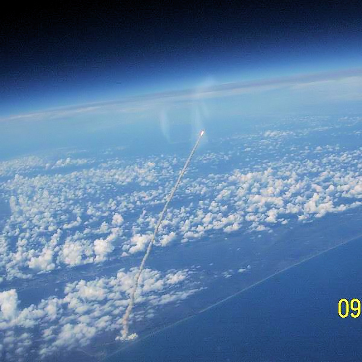rocket launch view from space -#main